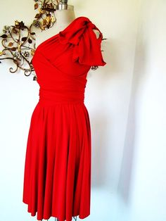 sailor bridesmaid dresses | Formal: Sailor's Delight Red Octopus Convertible Wrap Dress - Dress
