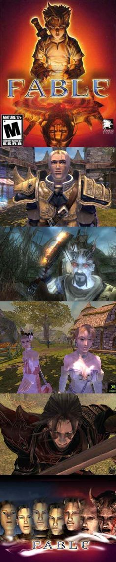 In Fable you get to decide if you are the peoples hero or their greatest villain. Xbox Arcade, Xbox Exclusives, Classic Rpg, Fandom Games, Dnd Characters, Fictional Characters, Greatest Villains, Sega Dreamcast, Classic Video Games