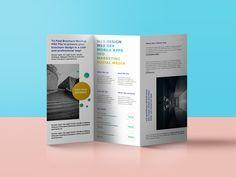 Download Tri Fold Brochure Mockup