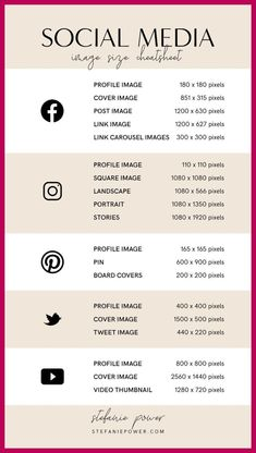 2019 Social Media Image Size Guide - Rissu Tutorial and Ideas Social Media Branding, Social Media Marketing Business, Digital Marketing Strategy, Facebook Marketing, Content Marketing, Marketing Plan, Marketing Strategies, Facebook Business, Marketing Branding