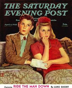 April 4, 1942 Saturday Evening Post Cover -Douglass Crockwell Art