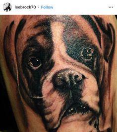 Boxer Dog Tattoo, Boxer Dogs, Tattoos, Animals, Animales, Animaux, Irezumi, Tattoo, Animais