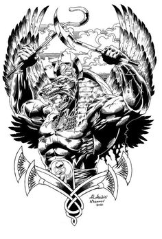 Anubis warrior by Anubiscomics on DeviantArt – Astrologie Egyptian Symbol Tattoo, Egyptian Tattoo Sleeve, Neue Tattoos, Body Art Tattoos, Sleeve Tattoos, Egypt Tattoo Design, Tattoo Designs, Gods Tattoo, Tattoo Sketches