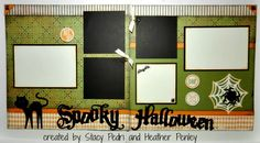 Cricut with Heart: Spooky Halloween Layout with Artiste & Moonlight paper