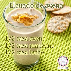 #Bebidas #Avena #Manzana Healthy Juices, Healthy Smoothies, Healthy Drinks, Healthy Snacks, Healthy Life, Healthy Eating, Smoothie Drinks, Breakfast Smoothies, Smoothie Recipes