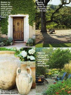 A Mediterranean Estate Meets Native California. Sunset Article. Gardening principles and plant list.