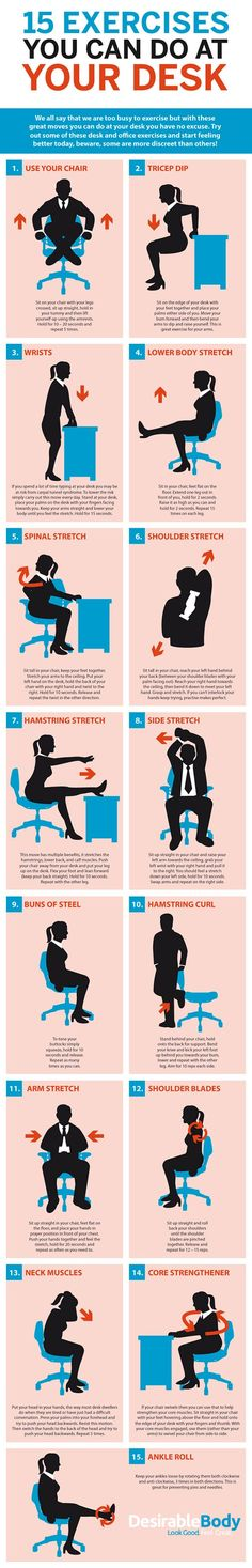 15 exercises you can do while working on your TPS reports. | Fit Bottomed Girls
