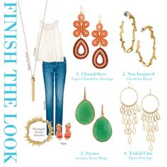 Casual Friday: Statement Earrings #StellaDotStyle http://www.stelladot.com/sites/Alexstanbach
