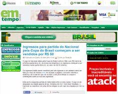 Ingressos para partida do Nacional pela Copa do Brasil começam a ser vendidos por R$ 50