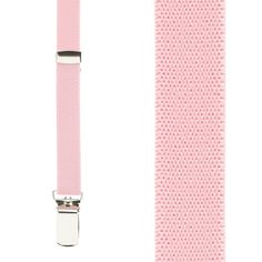 October is Breast Cancer Awareness Month. Show your support with these light pink suspenders. Perfect for walks, races or any other support event! 1/2 inch wide, x back, clip suspenders. Made in the USA.