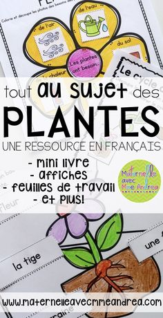 Apprenons tout au sujet des plantes (FRENCH Let's learn all About Plants) Teaching about plants in F French Teaching Resources, Teaching French, Teaching Spanish, Inquiry Based Learning, Teaching Science, Teacher Tools, Teacher Resources, French Lessons, French Class