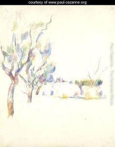 Amandiers En Provence (Allee Du Jas De Bouffan) - Paul Cezanne - www.paul-cezanne.org