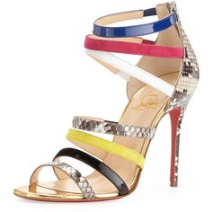 Christian Louboutin Mariniere Multi-Strap Red Sole Cage Bootie