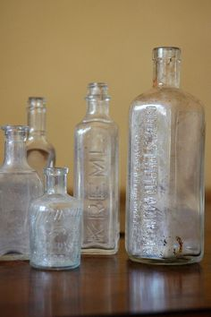 Antique Glass Bottle Collection