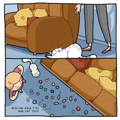 Relatable Cat Comics For Feline Owners & Appreciators - Memebase - Funny Memes Cute Cats, Funny Cats, Funny Animals, Cute Animals, Crazy Cat Lady, Crazy Cats, Comic Cat, Cat Comics, Funny Comics