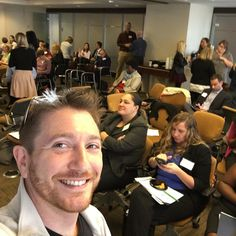Selfie from yesterday's panel at Deloitte #deloittesm