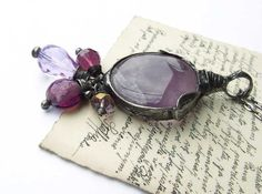amethyst purple ideal gift for the zodiac sign  by MARIAELA, $39.00