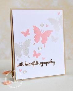 With Heartfelt Sympathy #card by Kay Miller for #PaperSmooches