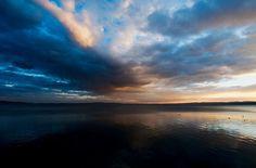 Altro giorno stesso lago #lake #braccianolake #trevignanoromano #sunset #clouds #landscape #sky #igerslazio by ferroalessandro77
