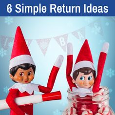 6 Simple Scout Elf Return Ideas  Elf Arrival Ideas   Elf Welcome Back Ideas Balloon Rides, The Balloon, The Elf, Elf On The Shelf, Elves At Play, Welcome Back Banner, Pen And Paper, Shelf Ideas, Christmas Baking