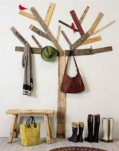 Cabide de parede ou árvore?