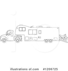 Pop Up Camper Svg File Cutting Template Vector Clip Art
