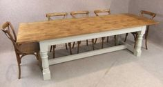This reclaimed pine refectory table is a fantastic addition to our large range of country style farmhouse tables. - See more at: http://www.peppermillantiques.com/reclaimed-pine-refectory-table/#sthash.biuUDWPM.dpuf