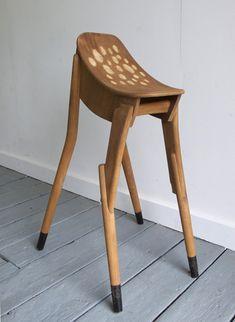 """upcycled stool -- called """"Bambi"""""""