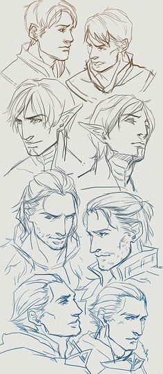and again sketches. this time dragon age >.>