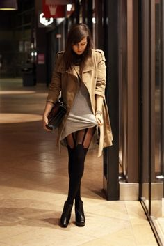 how to wear high socks or opaque tights