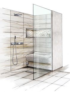 Bad Inspiration, Bungalow, Divider, Bathroom, Interior, Furniture, Home Decor, Contemporary Small Bathrooms, Roll In Showers