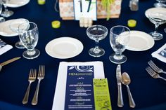 Navy and lime. Table setting. Menu. Photo booth frame