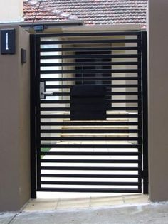 Gate Design Ideas - Photos of Gates. Browse Photos from Australian Designers & Trade Professionals, Create an Inspiration Board to save your favourite images. Side Gates, Front Gates, Entrance Gates, Grill Gate Design, Door Gate Design, Steel Security Doors, Security Gates, House Security, Tor Design