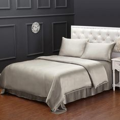 Housse De Couette En Soie 19 Momme Sans Couture Silk Bed Sheets, Satin Sheets, Satin Bedding, Bedding Sets, Comforter, Luxury Duvet Covers, Luxury Bedding, Full Bed, Decorate Your Room