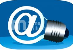 Illustration of a bulb with internet symbol