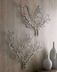 Tree branch wall sculptures, from Neiman Marcus