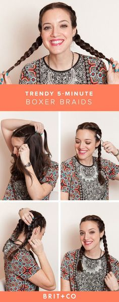 Save this for a guide on how to DIY easy boxer braids.