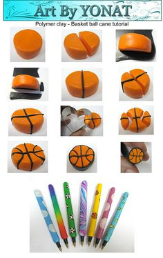 Polymer clay-basket-ball-cane-tutorial