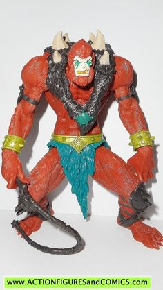 Mattel toys action figures for sale to buy MASTERS of the UNIVERSE 2002 series 2002 BEAST MAN 100% COMPLETE Condition: Excellent. nice paint, nice joints. nothing broken, damaged, or missing. Figure s