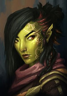 Character portrait for my DnD character at the time - a wood elf druid. Fantasy Girl, Fantasy Races, Fantasy Women, Dnd Characters, Fantasy Characters, Female Characters, Fantasy Inspiration, Character Design Inspiration, Character Portraits