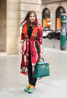 NMinsider Nasiba Adilova in Burberry during Haute Couture Spring 2015