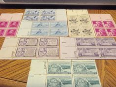 "LOT OF 8 PLATE BLOCKS 1940""S-1950""S MINT NH, OG -TOTAL OF 32 STAMPS"