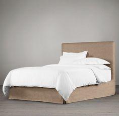 Restoration Hardware Slipcovered Bed