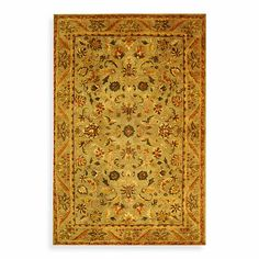 Safavieh Antiquities Gold and Sage Wool Rugs - BedBathandBeyond.com