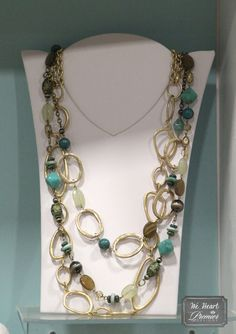 We love the mix of soft golds and turquoise.  Layer St. Lucia with the new Indulgence necklace.  #premierdesigns
