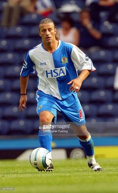 Blackburn's Tugay during the Barclays Premier league match between Blackburn Rovers and West Bromwich Albion at Ewood Park on August 14, 2004 in Blackburn, England.