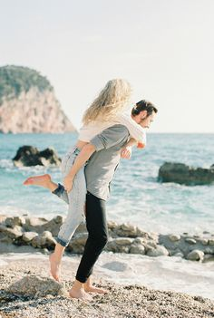 cute engagement session ideas - photo by Sonya Khegay Photography http://ruffledblog.com/montenegro-spring-love-session