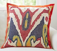 Lafayette Ikat Pillow Cover #potterybarn Sofa pillow options for living room.