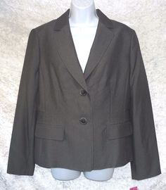 9 and Co Womens Jacket 2 button blazer long sleeves lined solid gray size 14 NEW 16.99 http://www.ebay.com/itm/9-and-Co-Womens-Jacket-2-button-blazer-long-sleeves-lined-solid-gray-size-14-NEW-/262743704144?var=&hash=item82c7862de8