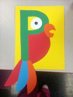 P is for parrot--- Image Only Preschool Letter Crafts, Alphabet Letter Crafts, Abc Crafts, Preschool Learning Activities, Alphabet Activities, Preschool Activities, Learning Letters, Lettering, Classroom